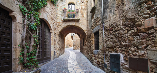 Passageway in the old town of Girona