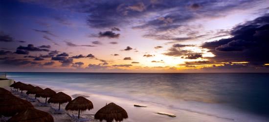 Sunrise along the Cancun Coast