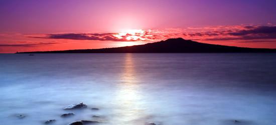 Pink Sunrise, Rangitoto Island