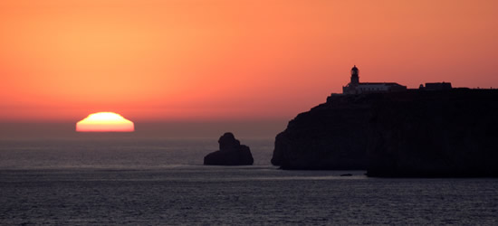 Sunset at Cabo San Vicente, Algarve