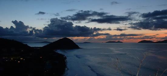 Sunset over Long Bay, BVI