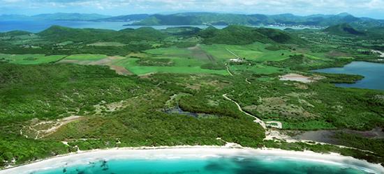 Aerial view of Martinique