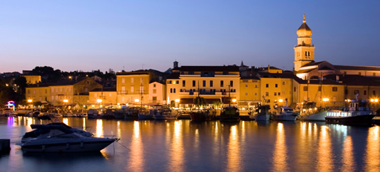 The Old Town of Krk at Twilight