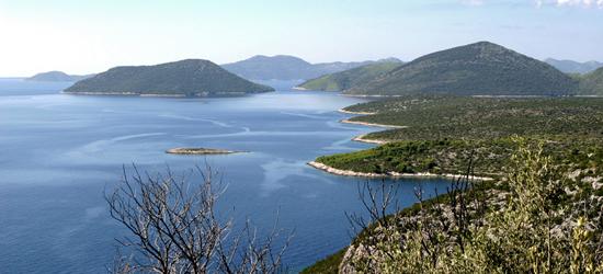 Coastline from Split to Dubrovnik