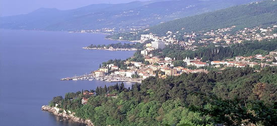 Elevated view of Opatija