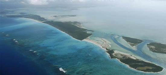 Vista aérea de Providenciales, Turcas y Caicos