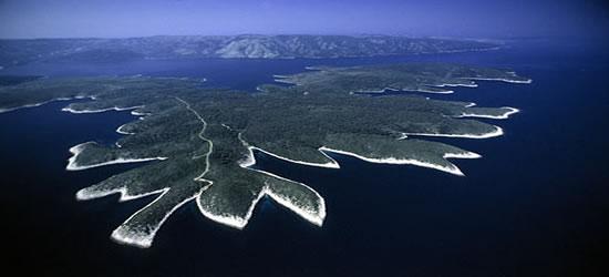Aerial view of the Kornati Islands