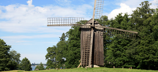 Historical Windmill at Roca al Mare