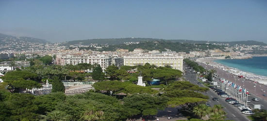 Elevated view of Cannes