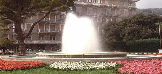 One of the many beautiful parks in Opatija