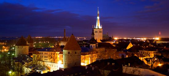 Night Shot of Tallinn