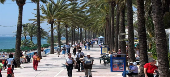 The Paseo Maritimo, Marbella