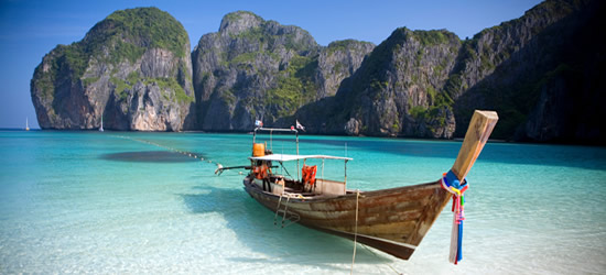 Long Tailed Boat, Phi Phi Islands, Thailand