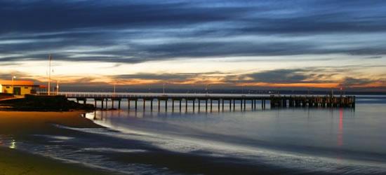 Sunset, Cowes Pier