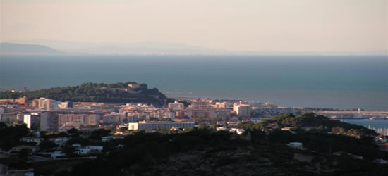 Elevated view of Denia