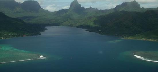 Opunohu Bay on the North Coast of Tahiti