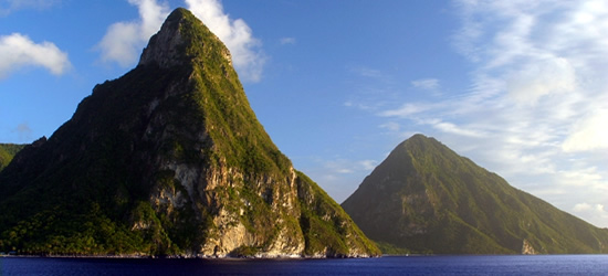 Pitons Mountains, St Lucia