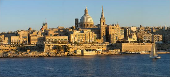 Panoramic view of Valletta