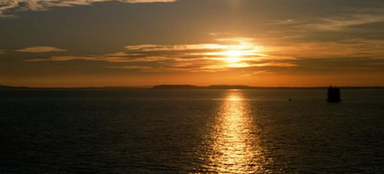 Sunset over the Solent