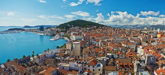 Panoramic view of Split