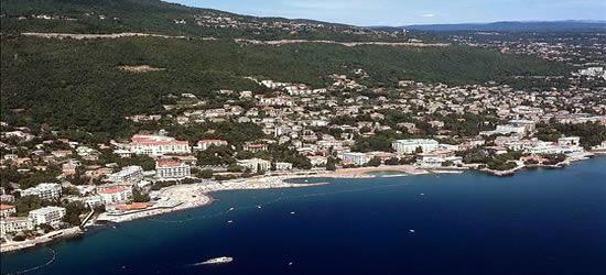 Aerial shot of Opatija