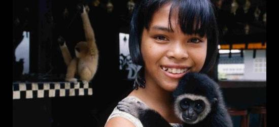 Young Girl and Pet Monkey, Phuket