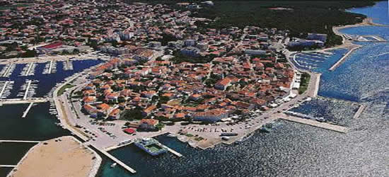 Aerial Shot of Biograd