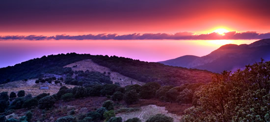 Sunset in the Hills, Corsica