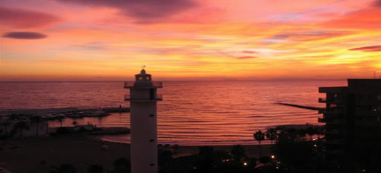 Spectacular Sunset, with Entrance to the Port