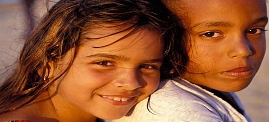 Children at Guanabo Beach