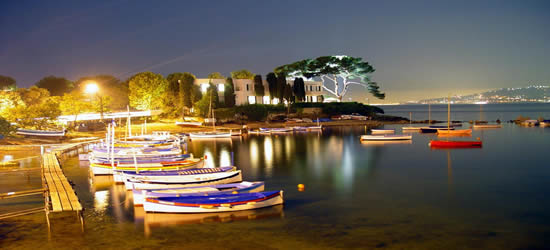 The small fishing boats of Antibes