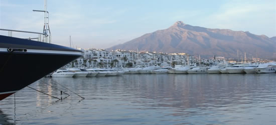 Views of the Port, with La Concha in the Distance