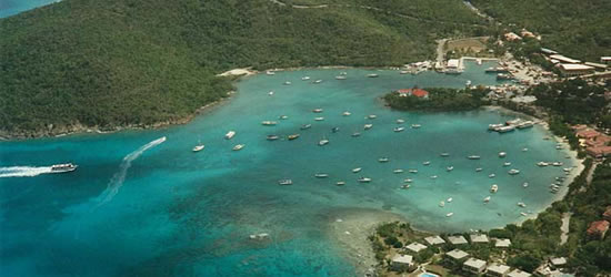 Aerial View of St Thomas, USVI