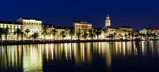 NIght Photo of Split Waterfront