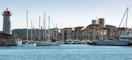 Entrance to Antibes Harbour