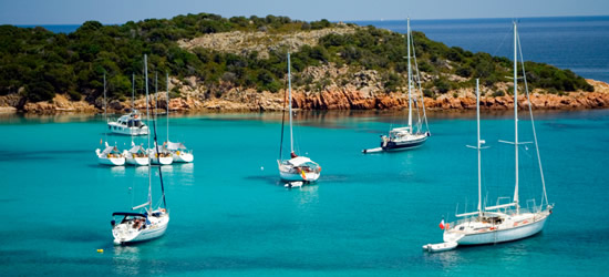 Yachts at Anchor in a Turquoise Bay, Corsica