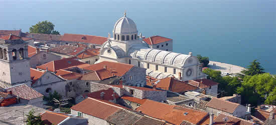 Red Tiled Roofs of Sibenik