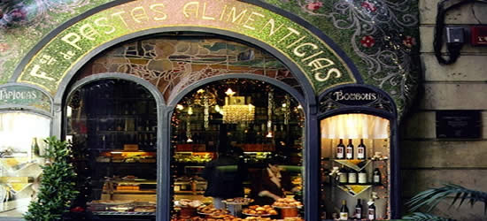 Art Nouveau Mosaic Tile, Las Ramblas, Barcelona
