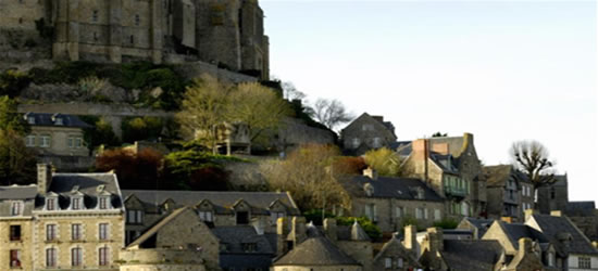 The foot of Mont St Michel