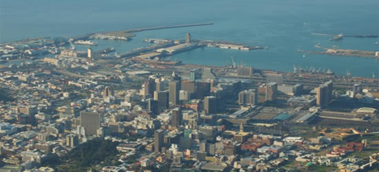 Elevated view of Cape Town
