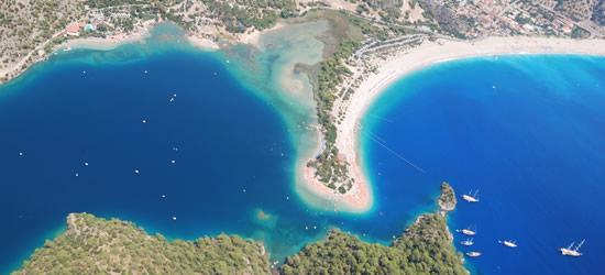 Aerial view of Oludeniz