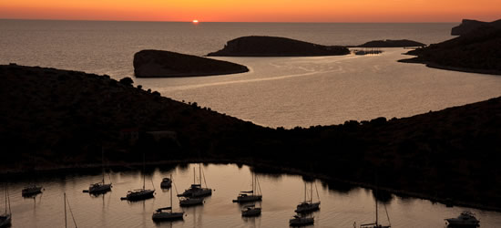 Sunset at the Kornati Islands