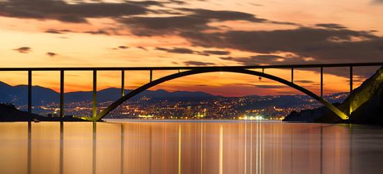 The Bridge to Krk at Sunset