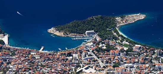 Aerial view of Makarska