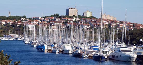 The port of Pula, Croatia