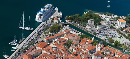 Aerial view of Kotor, Montenegro