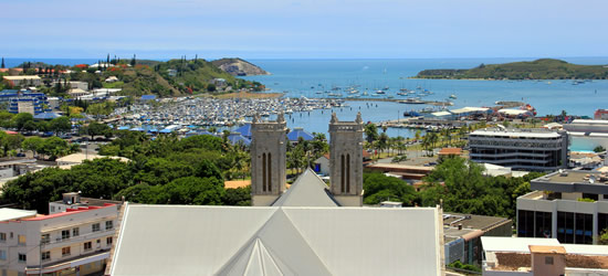 Panoramic view of Noumea, New Caledonia