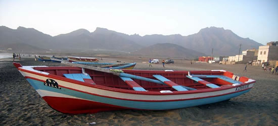 Multi-coloured Fishing Boats