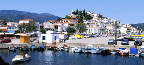 The Port of Skiathos