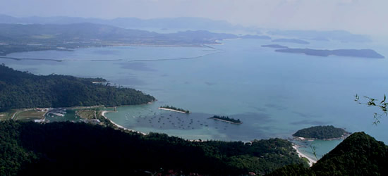 Elevated view of Langkawi